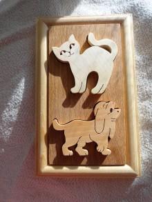 Hračky - Skladačka psíček a mačička - 7269316_