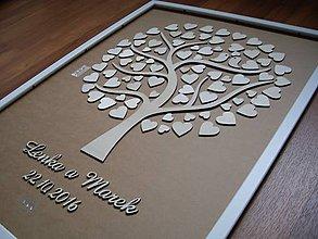 Darčeky pre svadobčanov - Svadobný strom, kniha hostí 1 - 7270736_