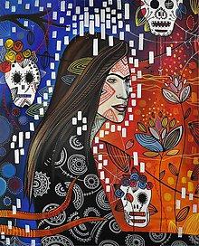 Obrazy - Obraz Sit With Me - maľba akrylom - 7267434_