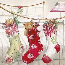Papier - vianočné ponožky - 7267807_
