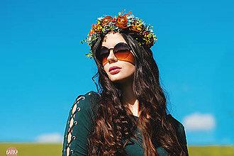 Ozdoby do vlasov - Kvetinový venček, horčicovo žltá - 7269142_