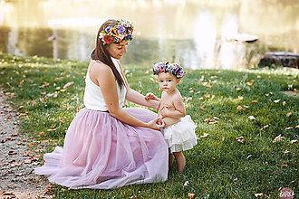 Ozdoby do vlasov - Set kvetinových doplnkov mama + dcérka - 7269255_