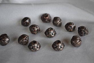 Korálky - Korálka tibetská kvietok-púčik 10mm, 0.18€/ks - 7268412_
