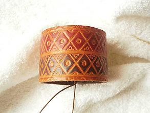 Náramky - Náramok kožený, tradícia - 7267229_