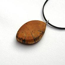 Náhrdelníky - Špaltovaná breza - očko - 7267099_