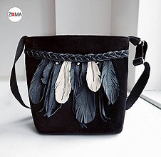 Kabelky - ALEX SMALL Feathers Beige crossbody kabelka malá - 7267582_