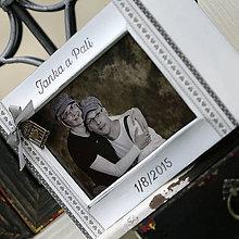 Rámiky - Drevený fotoalbum ♥ v sivej - 7272857_