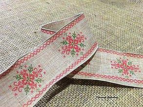 Galantéria - Ozdobná tkaná stuha 60 mm - Vianočný motív I - 7274453_