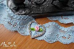 - svadobný podväzok modrý - 7271377_