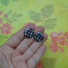 Náušnice - Polychromatic dots - puzetové náušnice - 7272714_