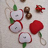 - Vianočná ozdoba - jabĺčko - 7274875_