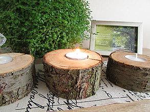 Svietidlá a sviečky - Svietnik NATURAL - 7273220_