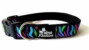 Pre zvieratká - Obojok Dinofashion Colour Zebra - 7275075_