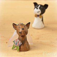 Darčeky pre svadobčanov - Psíkovia podľa fotografie - darčeky pre svadobčanov, menovky - 7272396_