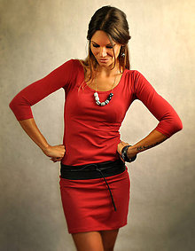 Šaty - Jednoduché šaty bez vreciek - Bloodymary - 7271722_