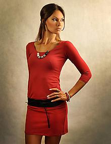 Šaty - Jednoduché šaty bez vreciek - Bloodymary - 7271723_