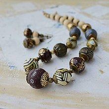 Sady šperkov - Korále v etno štýle - 7275179_