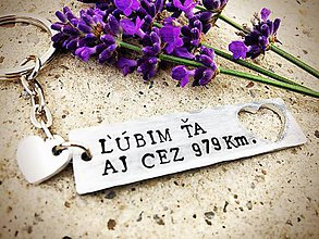 Kľúčenky - Ľúbim Ťa aj cez .... - 7277884_