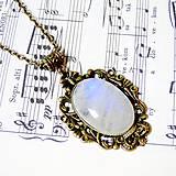Náhrdelníky - Vintage Moonstone & Ornaments / Výrazný náhrdelník s pravým mesačným kameňom - adulárom - 7275595_