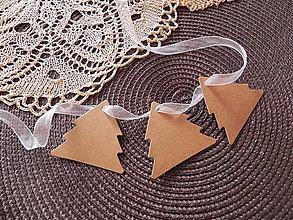 Papiernictvo - Menovky, visačky - vianočné stromčeky - 7277253_