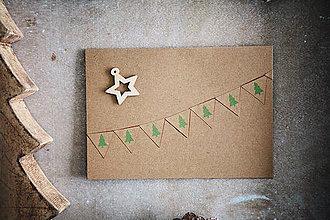 Papiernictvo - Vianočná pohľadnica - prírodná - 7277280_