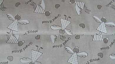 Textil - Anjeliky na režnom podklade - 7275728_