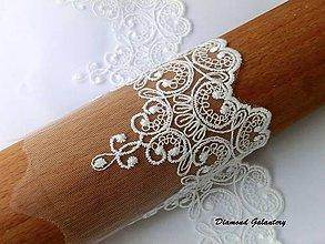 Galantéria - Čipka biela 100 mm - cena za 10 cm - 7279412_