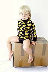 """Detské oblečenie - """"Rastúce"""" body - tričko - veľ. 75 - 92 cm (9-24 m) - MERINOVLNA - 7275395_"""