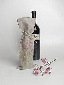 Úžitkový textil - Elegantná a ekologická ľanová taška na víno