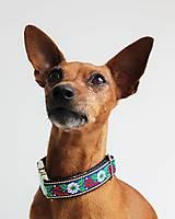 Pre zvieratká - Obojok Kubko - s ľudovým motýlikom pre menších psíkov - 7277405_
