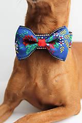 Pre zvieratká - Obojok Kubko - s ľudovým motýlikom pre menších psíkov - 7277411_