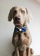 Pre zvieratká - Obojok Kubko - s ľudovým vzorom a motýlikom pre väčších psíkov - 7277950_