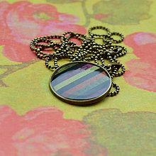 Náhrdelníky - Stripes - náhrdelník 25 mm - 7279116_
