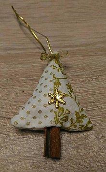 Drobnosti - Vianočná voňavá ozdoba zlatá - 7275496_