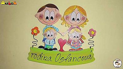 Tabuľky - Menovka - rodinka - 7277985_