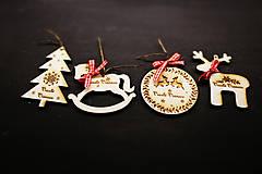 Dekorácie - Vianočné gravirované ozdoby - 7275602_