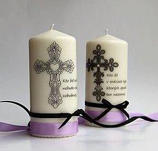 Svietidlá a sviečky - Smútočná dekoračná sviečka IV. - 7277008_