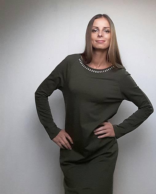 65f188b951c8 VÝPREDAJ VZORKA v.S Teplákové šaty Suva olive   eva.benova - SAShE ...