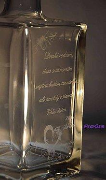 Nádoby - Ryan gravírovaná fľaša - poďakovanie rodičom - 7277001_