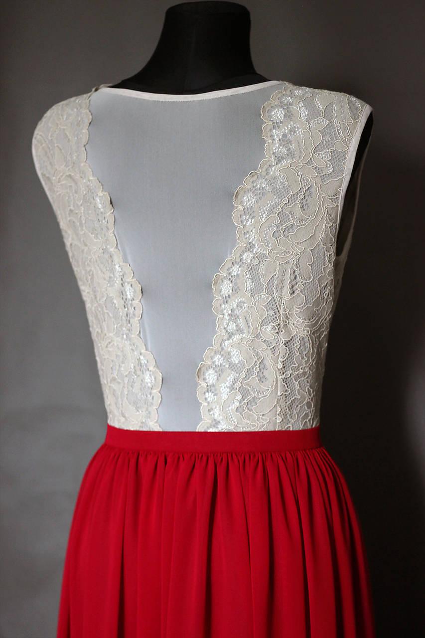 ff263b2f4ab5 ... Šaty - Spoločenské šaty s elastickým živôtikom a šifónovou sukňou rôzne  farby - 7276637  ...
