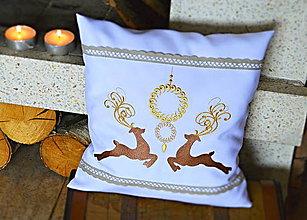 Úžitkový textil - vankúš vianočný soby - 7276962_