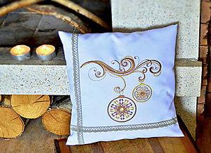 Úžitkový textil - vankúš vianočný vetvička - 7277037_