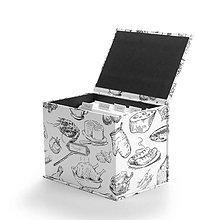Papiernictvo - Receptár Black & White - krabička na recepty - 7278671_