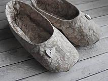 - Šité balerínkové papučky - 7275668_