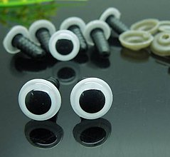 Galantéria - Bezpečnostné očká biele 12mm - 7279062_
