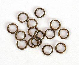 Komponenty - Spojovacie krúžky, starobronz - 7 mm, 20 ks - 7277252_