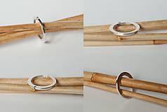 Prstene - Zásnubný prsteň / obrúčka obdĺžniková - vysoká zúžená - 7279125_