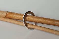 Prstene - Zásnubný prsteň / obrúčka obdĺžniková - vysoká zúžená - 7279129_