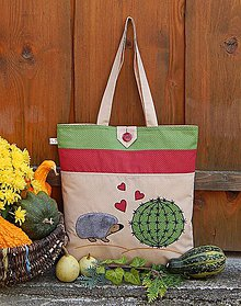 Nákupné tašky - Nákupná taška - ježko - 7276790_