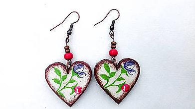 Náušnice - Kvety v srdci 1 - 7276430_